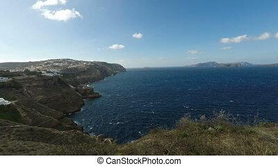 automne, île, santorini