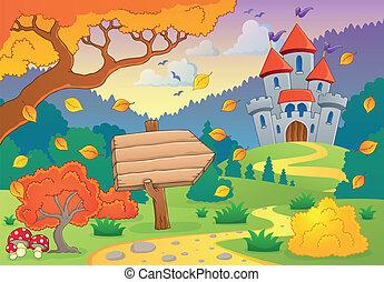 automne, 1, thème, château