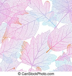 automne, 10, leaves., eps, seamless