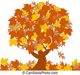 automne, arbre