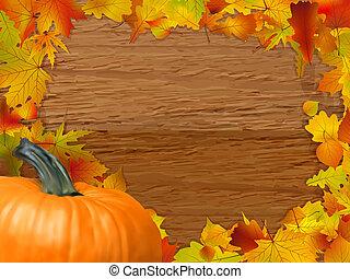 automne, arrière-plan., eps, 8