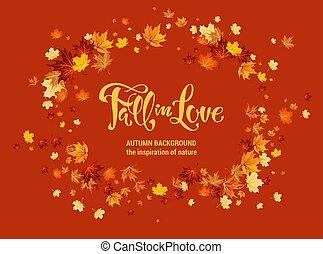 automne, arrière-plan., feuilles, érable