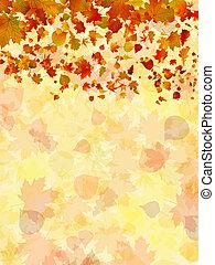 automne, arrière-plan., feuilles, eps, 8
