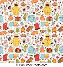 automne, articles, pattern., seamless