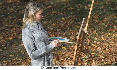 automne, artiste