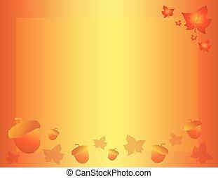 automne, automne, fond, à, feuilles