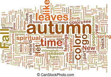 automne, automne, wordcloud