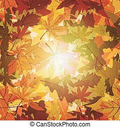 automne, backg, résumé, feuille, seamless