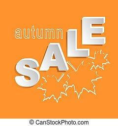 automne, bannière, vente