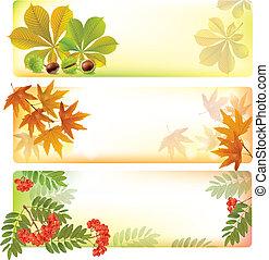 automne, bannières horizontales
