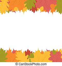 automne, blanc, feuille, fond
