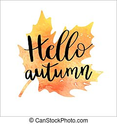 automne, bonjour