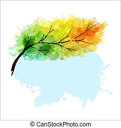 automne, branche arbre