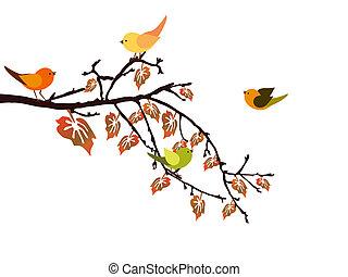 automne, branche