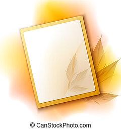 automne, cadre, fond, à, feuilles