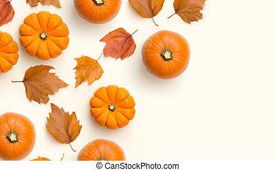 automne, cadre, fond, composition, automne