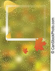 automne, cadre, fond