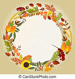 automne, carte voeux