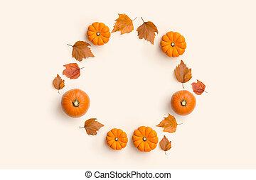 automne, cercle, contemporain, composition