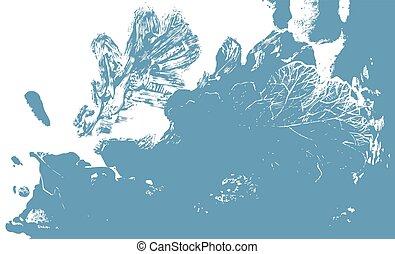 automne, chêne, arbre., feuille, defoliation