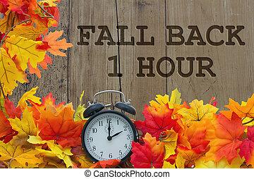 automne, changement, temps