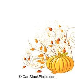 automne, citrouille