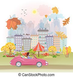 automne, cityscape