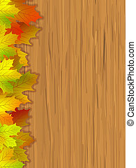automne, coloré, feuilles