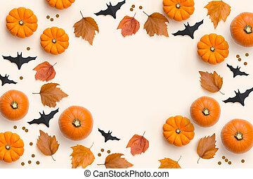 automne, composition, fond, automne