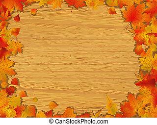 automne, conseil bois, fond