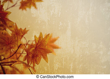 automne, copie, conception, fond, espace