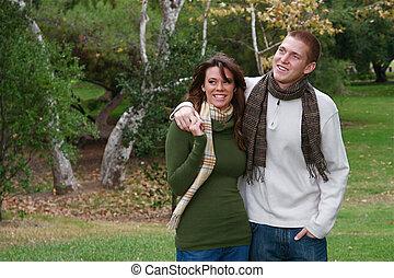 automne, couples
