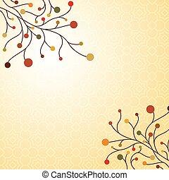 automne, décoratif, fond