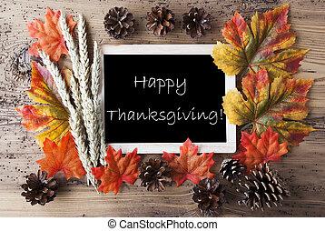 automne, décoration, heureux, thanksgiving, tableau