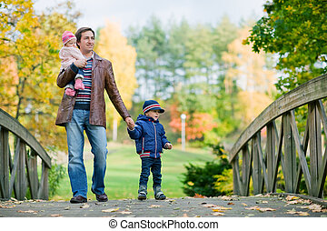automne, famille