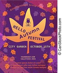 automne, festival, bonjour