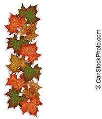 automne, feuilles autome, frontière