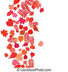 automne, fond, coloré, leaves.