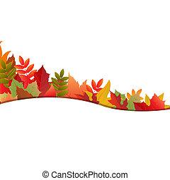 automne, fond, pousse feuilles