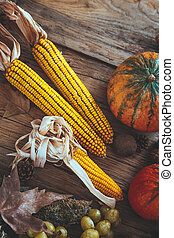 automne, fruit, monture