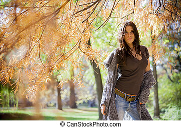 automne, girl