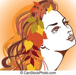 automne, girl