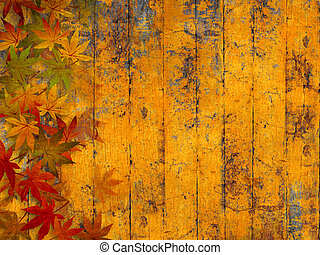automne, grunge, fond