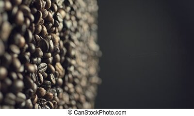 automne, haricots, closeup, mouvement, café, ralentir