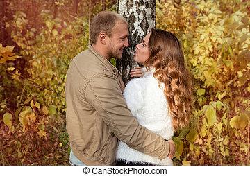 automne, histoire, amour