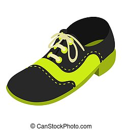 automne, icône, isométrique, style, chaussure
