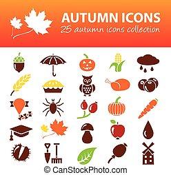 automne, icônes