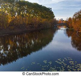 automne, izmailovo, parc, russie, moscou