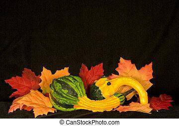 automne, milieu de table, iii
