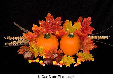 automne, milieu de table